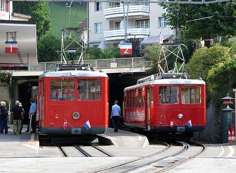 Train, Rigi, Mountain, Transport, Historically, Track