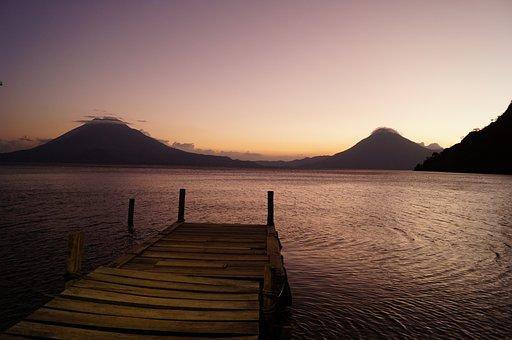 Berth, Lake, Landscape, Atitlán, Guatemala, Water