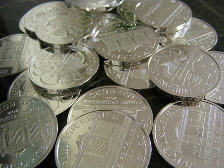 Money, Dollars, Coins, Silver, Metallic, Investment