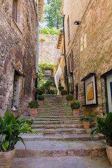 Assisi, Asiz, Square, Monastery, Stairs