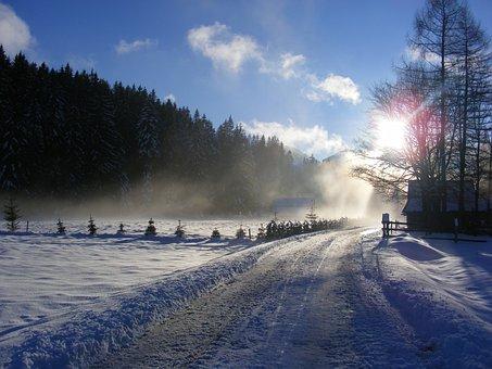 Winter, Tatry, Poland, Chochołowska Valley, Mountains