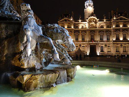 Lyon, Place Potting Soils, Fountain, Bartholdi