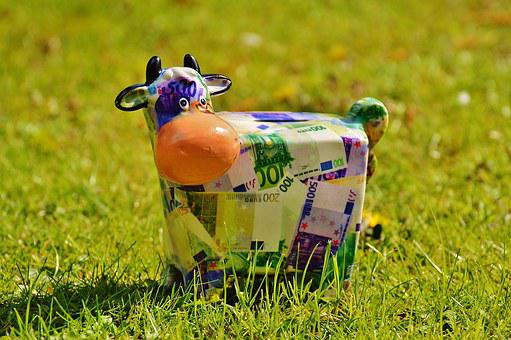 Cow, Save, Money, Meadow, Piggy Bank, Funny, Ceramic