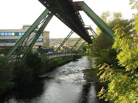 Schwebebahn, Wuppertal, Wupper