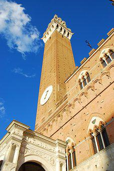Siena, Square Of The Field, Tower Eats, Torre, Tuscany