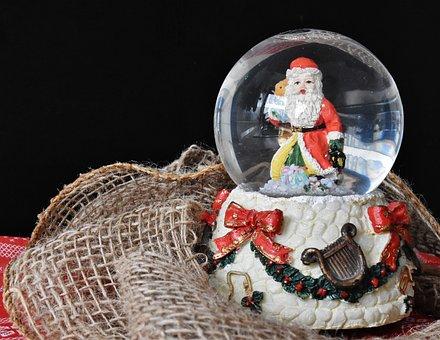 Snow Ball, Game Clock, Toys, Christmas, Music Box