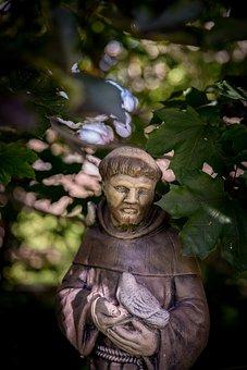 Monk, Garden, Statuary, Statue, Monument, Abbey