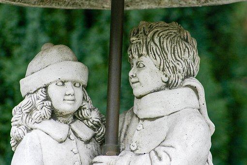 Sculpture, Pair, Man, Woman, Statue, Artwork, Figure