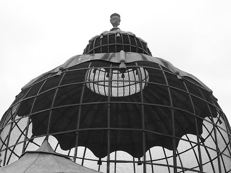 Aviary, Dome, Cage, Park, Vienna, Bird