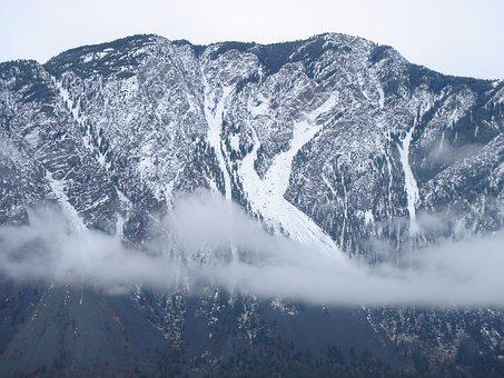 Snow Mountain, Winter, Sechelt Bc Canada, Nature