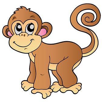 Monkey, Baby, Cartoon, Animal, Baby Monkey