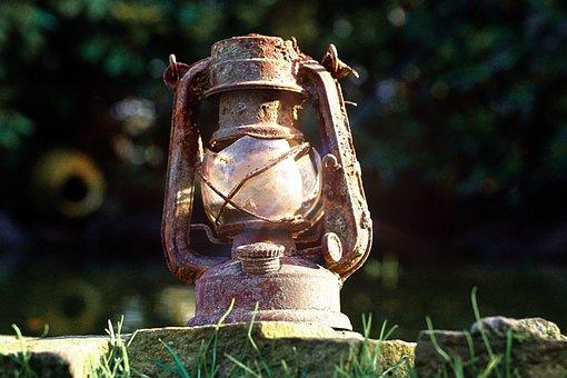 Old, Lamp, Lantern, Oil Lamp, Retro, Antique