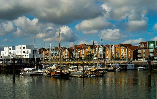 City, Water, Port, Boats, Sailboats, Boat Yard, Wharf