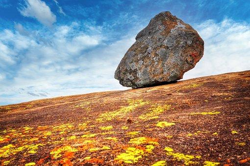 Rock, Granite, Rocky Mountain, Sky, Clouds, Stone