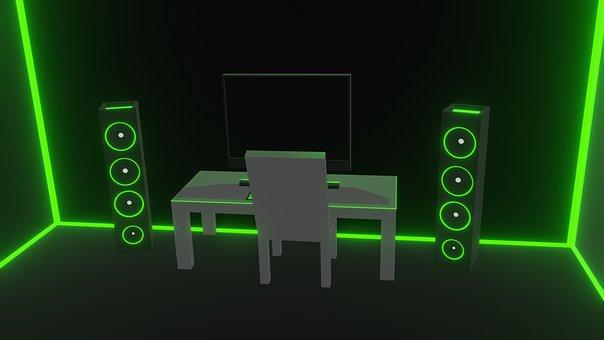 Cyber, Speaker, Pc, Music, Workstation, Sound