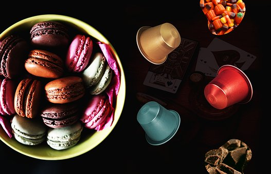 Macarons, Candy, Dessert, Sweet, Treat, Snack, Table