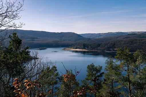 Nature, Eifel, Germany, Rursee, Landscape, Trees