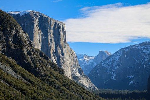 Yosemite, El Capitan, Sunny, Tourism, Landmark, Scenic