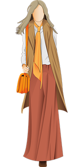 Woman, Fashion, Sketch, Skirt, Outfit, Girl, Female