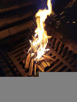 Fireplace, Wood, Bonfire, Fire, Heat