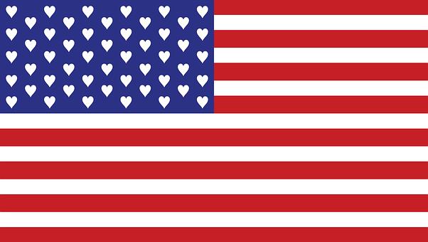 Us, Usa, America, Flag, Patriotic, California