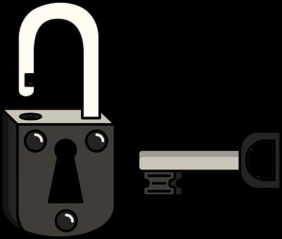 Chain, Door Key, Flat, Gate, Graphic, Guard, Key