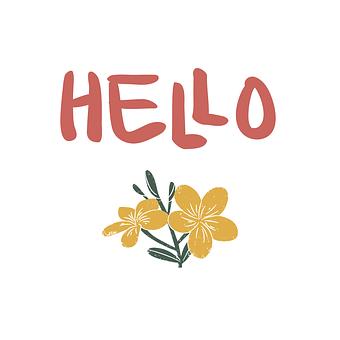 Hello, Flower, Nature, Spring, Plant, Garden, Floral