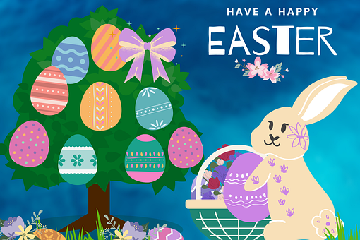 Easter, Rabbit, Flowers, Egg, Decoration, Tradition