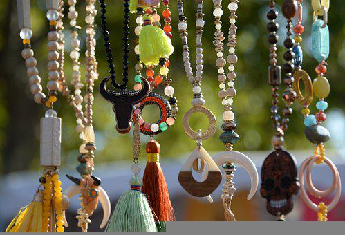 Necklaces, Colors, Beads, Glass, Jewelry, Mode