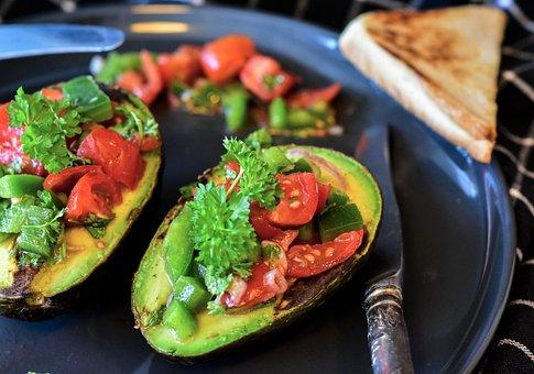 Avocadoes, Tomatoes, Vegetables, Guacamole, Salad