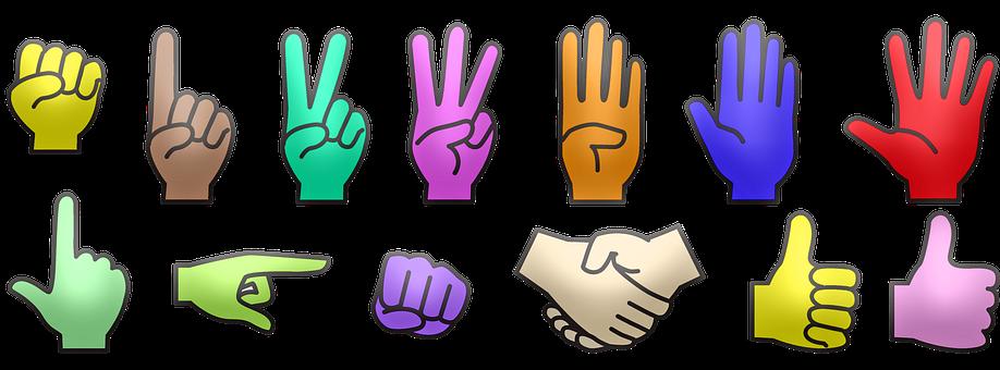 Hands, Counting, Gestures, Hand Gestures