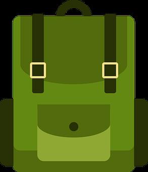 Bag, Backpack, Green, Green Bag, Backpacking, Icon