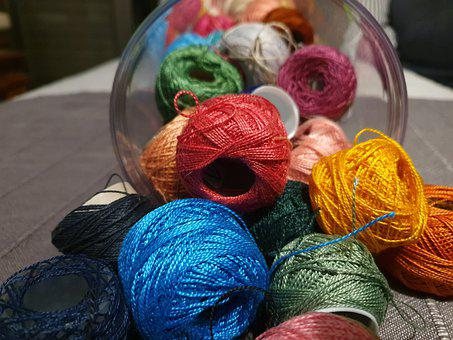 Thread, Color, Knitting, Embroidering Embroidery Thread