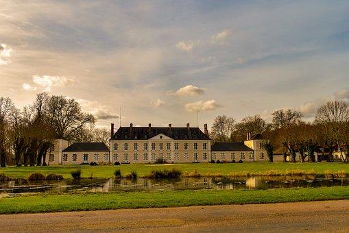 Castle, Architecture, Front Yard, Pond, Landmark