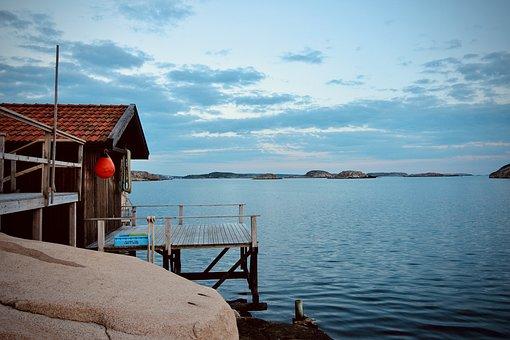 Sweden, Lake, Water, Nature, Landscape, Waldsee, Sky