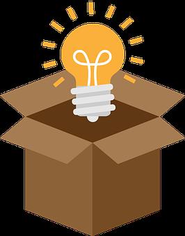 Light, Bulb, Box, Outside The Box, Think, Breakthrough