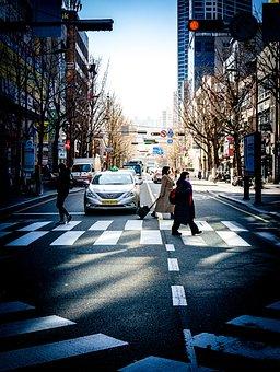 Street, Crossroads, Traffic, Pedestrians