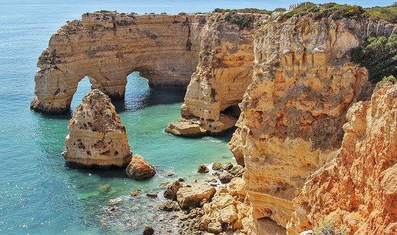 Sea, Portugal, Algarve, Side, Summer