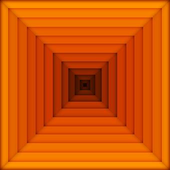Square, Orange, Pyramid, Color, Geometry, Squares