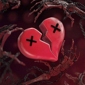 Heartbreak, Love, Death, 3d Art, Relationship