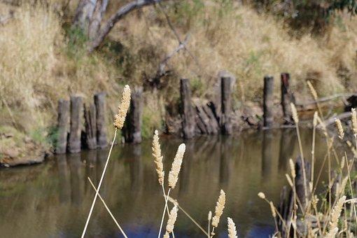 Bridge, Old, Historic, River, Loddon, Summer, Monument