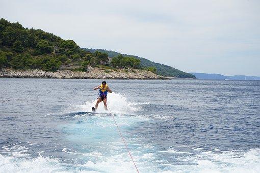 Ski, Water Ski, Sea, Ocean, Sport, Water, Fun, Extreme