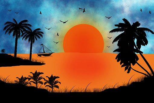 Sun Rice, Sun, Day, Rice, Summer, Sky, Green, Travel