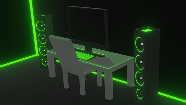Cyber, Pc, Speaker