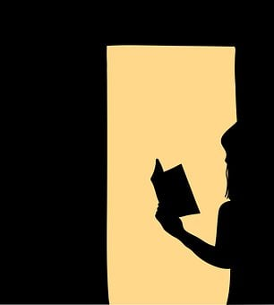 Girl, Book, Silhouettes, Shadow, Read, Reading, Study