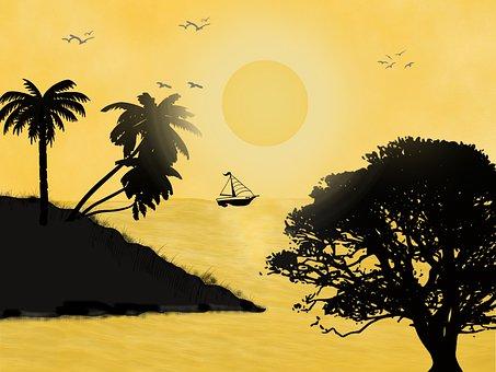 Sun Set, Sun Rice, Sun, Rice, Sky, Vietnam, Summer