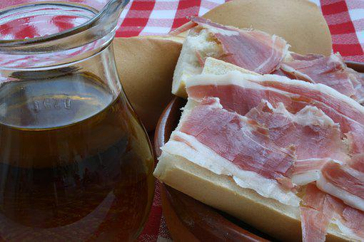 Olive Oil, Ham, Top, Appetizer, Delicious, Bread