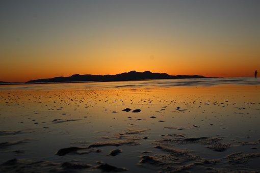 Sunset, Utah, Great Salt Lake, Landscape, Sky, Nature