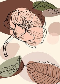 Abstract, Flower, Leaves, Pattern
