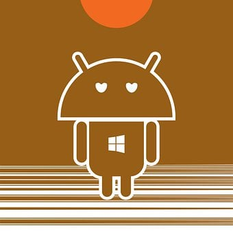 Robot Icon, Android Inspired, Apple Eyes, Windows Heart